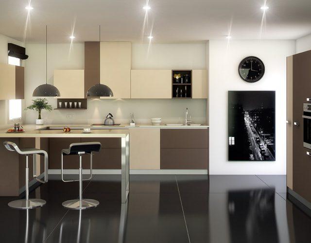 barra moderna en la cocina