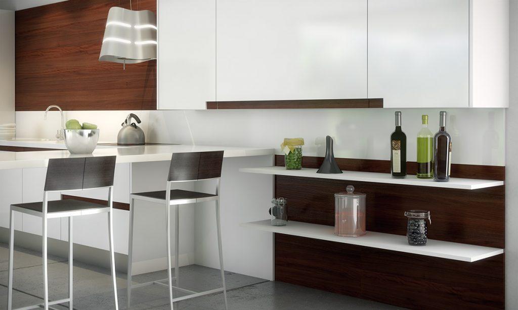 Cocina en forma de u con barra de desayunos for Cocinas en forma de u con barra