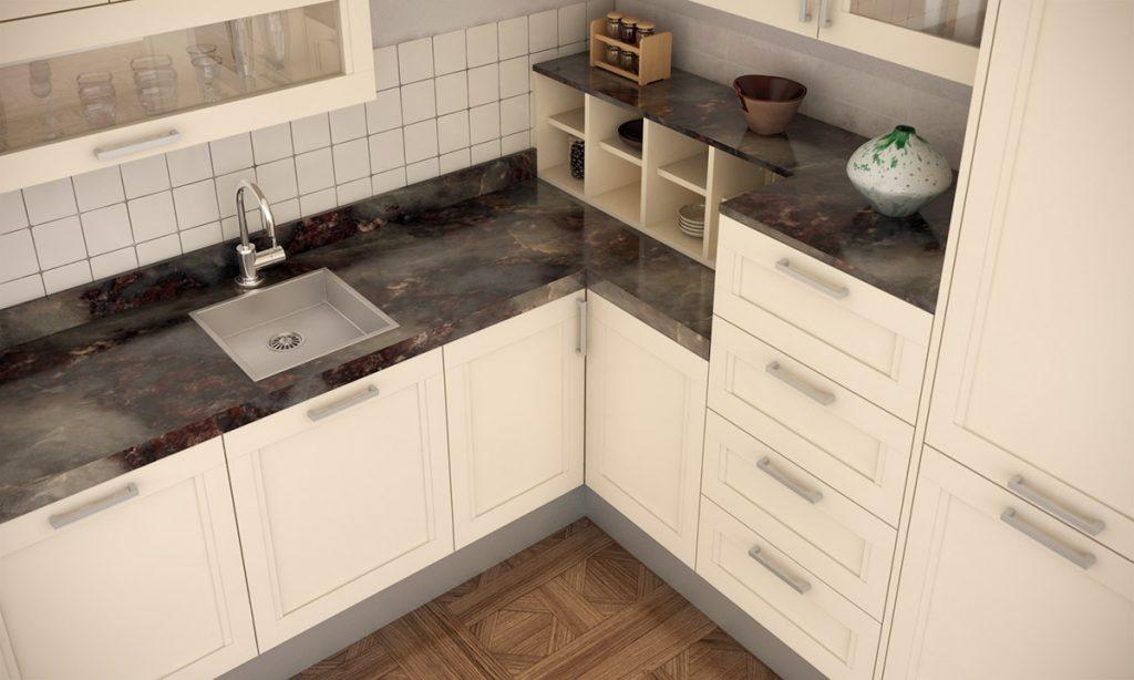 cocina con encimera de mrmol - Encimera Marmol